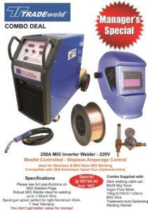 250A Tradeweld Mig Welder Combo Special
