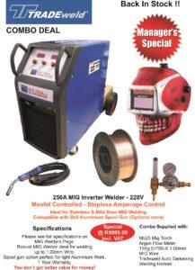 250A Tradeweld Mig Welder Combo Special May 2015