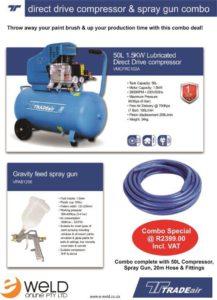 Compressor & Spraygun Combo March