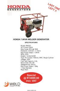Honda Welder Generator - Last One