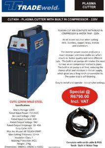 June Plasma Cut 40K with compressor - 220V