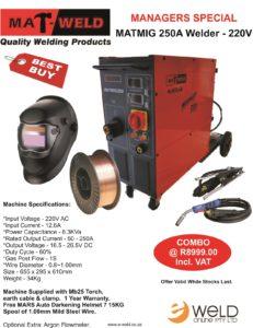 Matweld MATMIG 250A Combo - Correction