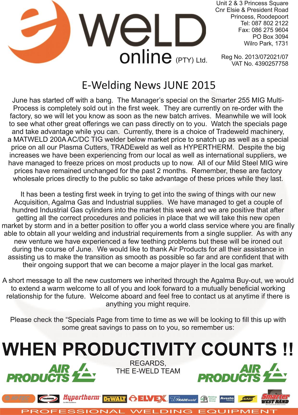 Newsletter June 2015