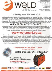 Newsletter Mid April 2015 P1