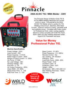 Pinnacle 200A ACDC TIG