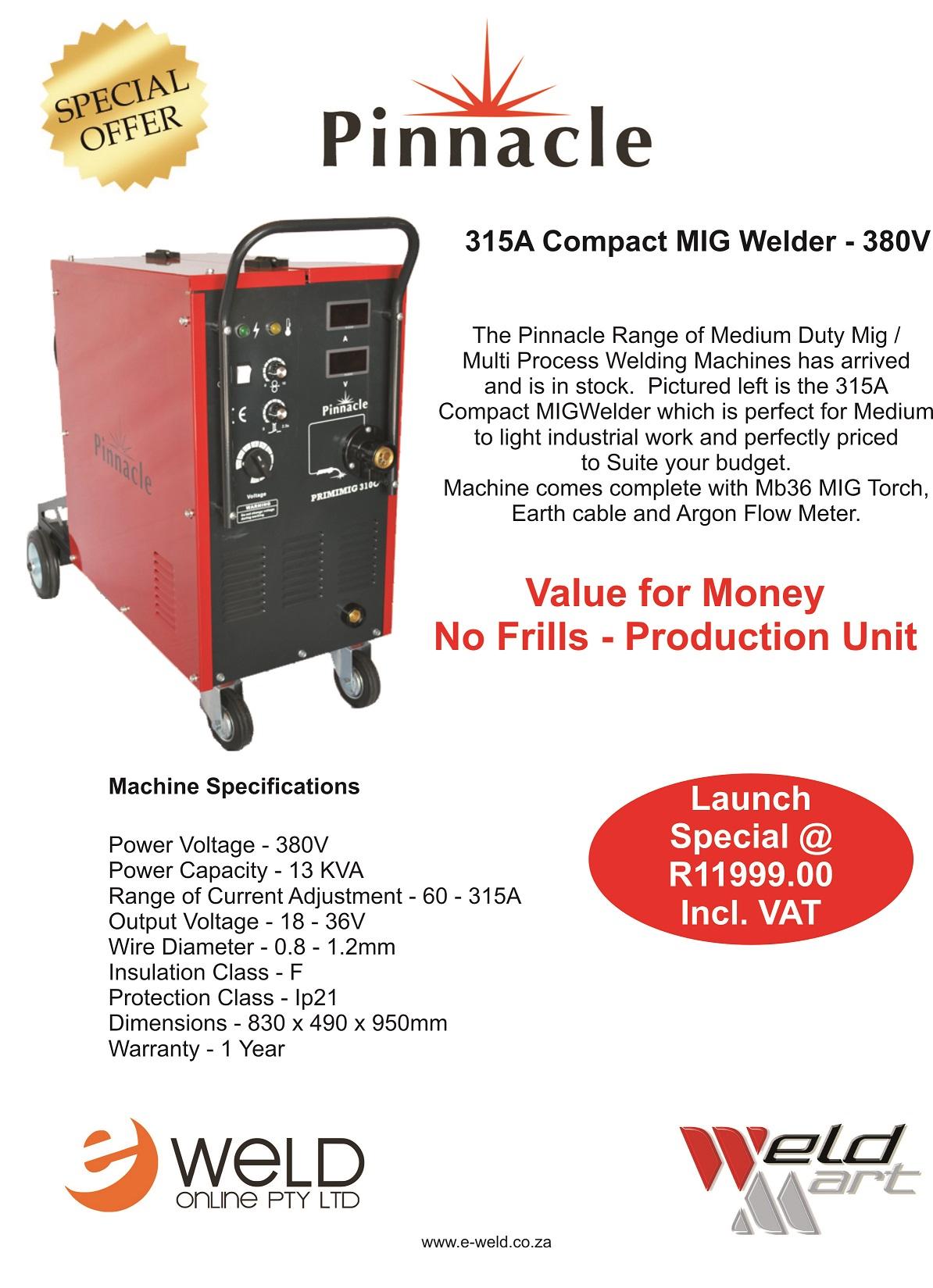 Pinnacle 310 Compact MIG