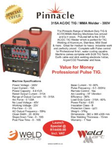 Pinnacle 315A ACDC TIG