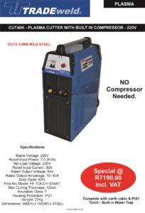 Plasma Cut 40K with compressor - 220V