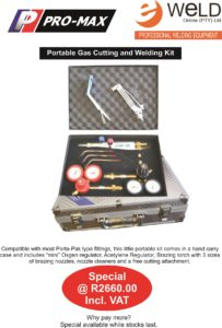 Portable Gas Welding & Cutting Kit August