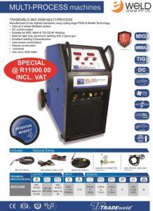 Tradeweld 250A Multi Process MIG 220V