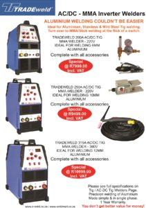 Tradeweld AC-DC Tig Machines together