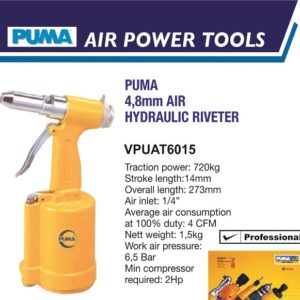 VPUAT6015 4.8MM AIR HYDRAULIC RIVETER